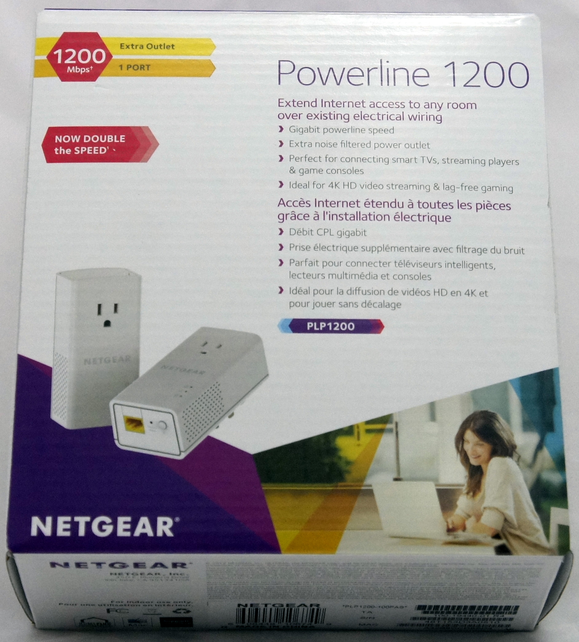 Review Netgear Plp1200 Powerline Network Adapter Not Operator Wiring Outlet Frontbox Backbox
